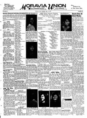 Moravia Union from Moravia, Iowa on May 21, 1970 · Page 1