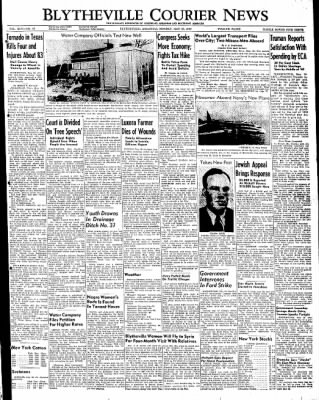 The Courier News from Blytheville, Arkansas on May 16, 1949 · Page 1