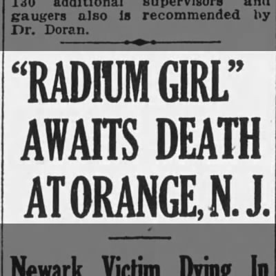 Radium Girl Awaits Death