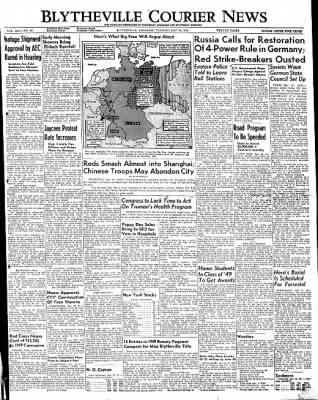 The Courier News from Blytheville, Arkansas on May 24, 1949 · Page 1