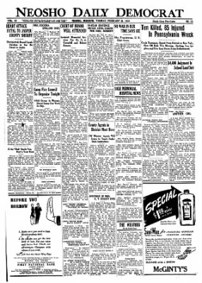 The Neosho Daily News from Neosho, Missouri on February 18, 1947 · Page 1