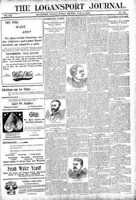 Logansport Pharos-Tribune from Logansport, Indiana on June 14, 1896 · Page 1
