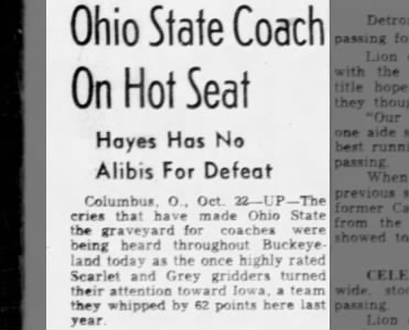 Woody Hayes, Hot Seat