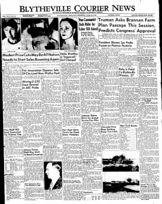 The Courier News from Blytheville, Arkansas on June 16, 1949 · Page 1