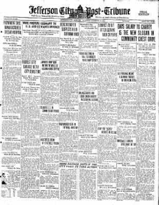 Jefferson City Post-Tribune from Jefferson City, Missouri on November 19, 1931 · Page 1