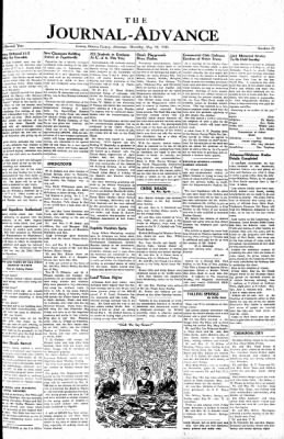 The Journal-Advance from Gentry, Arkansas · Page 1