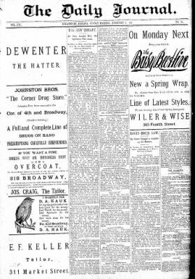 Logansport Pharos-Tribune from Logansport, Indiana on February 8, 1891 · Page 1