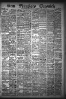 San Francisco Chronicle from San Francisco, California on November 10, 1874 · Page 1