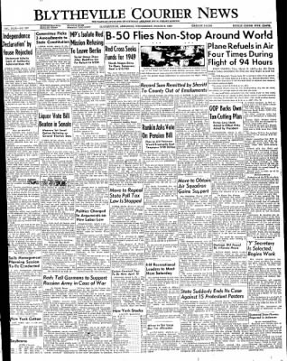 The Courier News from Blytheville, Arkansas on March 2, 1949 · Page 1