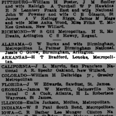 Henry Taylor Bradford09 Sept 1907