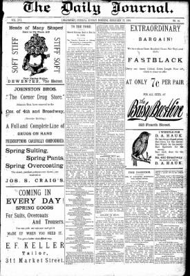 Logansport Pharos-Tribune from Logansport, Indiana on February 22, 1891 · Page 1