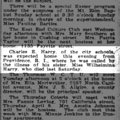 Charles E. Harry - The Indianapolis News (Indianapolis, Indiana) 3 April 1926, Sat. Pg. 33