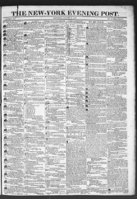 The Evening Post from New York, New York on January 17, 1818 · Page 1
