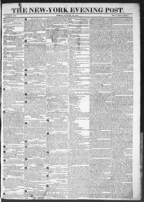 The Evening Post from New York, New York on January 30, 1818 · Page 1