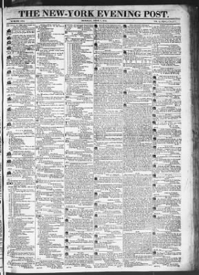 The Evening Post from New York, New York on April 7, 1818 · Page 1