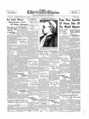The Daily Courier from Connellsville, Pennsylvania on February 10, 1939 · Page 1
