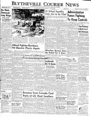 The Courier News from Blytheville, Arkansas on June 27, 1952 · Page 1