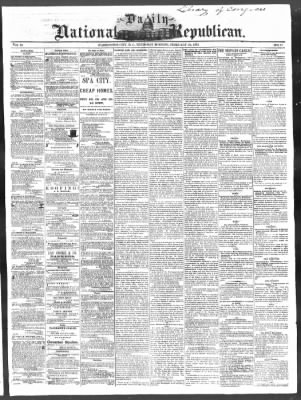 National Republican from Washington, District of Columbia on February 24, 1870 · Page 1