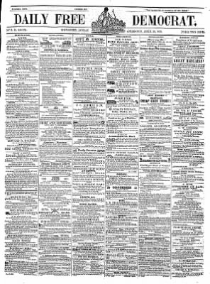Daily Free Democrat from Milwaukee, Wisconsin on April 12, 1852 · Page 1