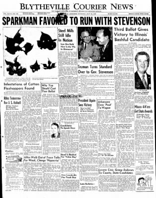 The Courier News from Blytheville, Arkansas on July 26, 1952 · Page 1
