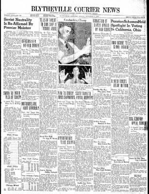 The Courier News from Blytheville, Arkansas on November 6, 1939 · Page 1