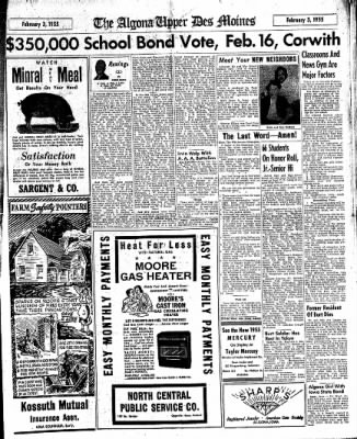 The Algona Upper Des Moines from Algona, Iowa on February 3, 1955 · Page 17