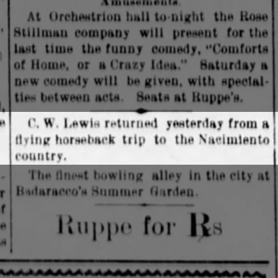 Albuquerque Citizen 6 Jul 1899; p.1