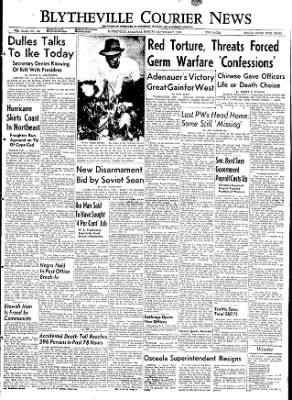 The Courier News from Blytheville, Arkansas on September 7, 1953 · Page 1