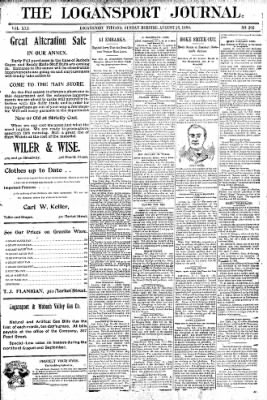 Logansport Pharos-Tribune from Logansport, Indiana on August 23, 1896 · Page 1