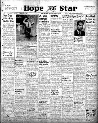 Hope Star from Hope, Arkansas on October 11, 1958 · Page 1