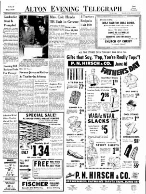 Alton Evening Telegraph from Alton, Illinois on June 7, 1963 · Page 13