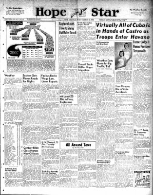 Hope Star from Hope, Arkansas on January 2, 1959 · Page 1