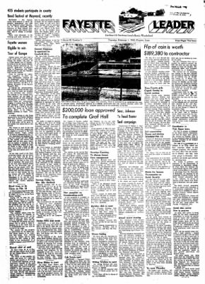 Fayette County Leader from Fayette, Iowa on February 1, 1962 · Page 1