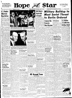 Hope Star from Hope, Arkansas on July 26, 1961 · Page 1