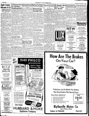 The Courier News from Blytheville, Arkansas on March 17, 1949 · Page 6