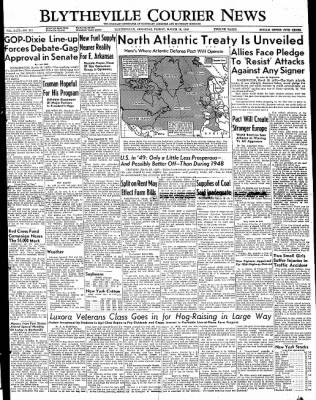 The Courier News from Blytheville, Arkansas on March 18, 1949 · Page 1
