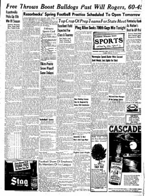 Northwest Arkansas Times from Fayetteville, Arkansas on February 19, 1952 · Page 9