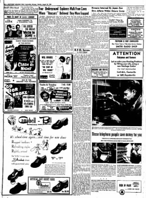 Northwest Arkansas Times from Fayetteville, Arkansas on August 25, 1952 · Page 10