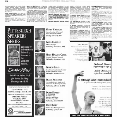 Pittsburgh Post-Gazette from Pittsburgh, Pennsylvania on August 27, 2004 · Page 63